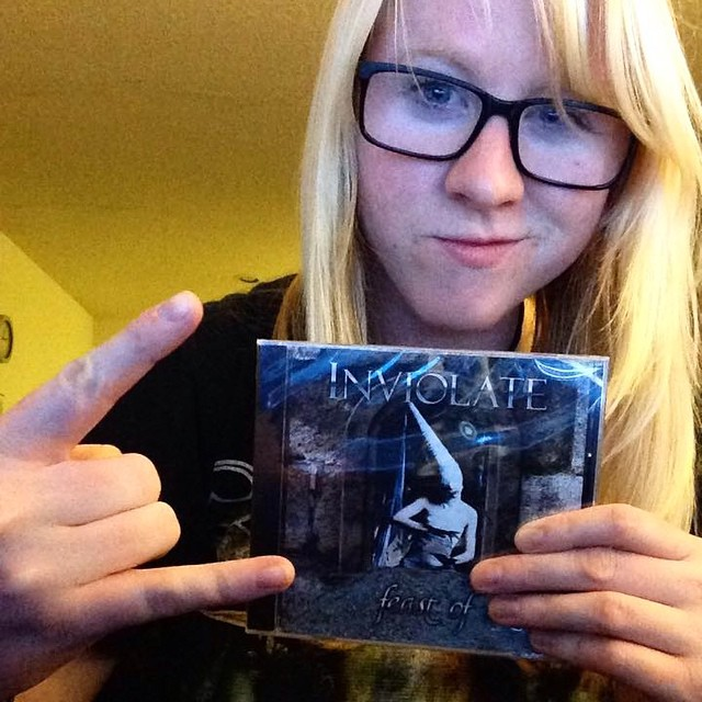 Our new friend Amanda ordered her Feast of Ashes album online! You rock, Ms. Wilson!! So, do you have yours? #feastofashes #strangeonerecords #hornsup #supportyourlocals #metal #ladyinviolator