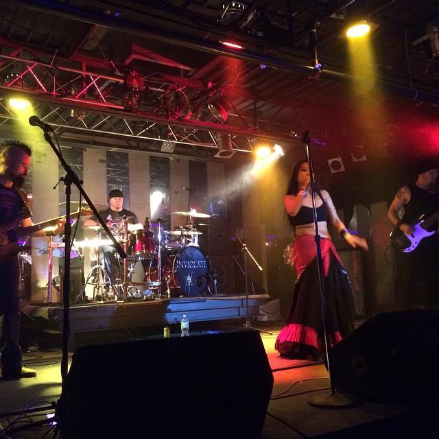 Having a blast onstage at The Coliseum! #coliseumofbradenton #1pt5 #floridainviolations #florida #bradenton #rocksolidpressure #awesomeness #metal #femalefrontedmetal