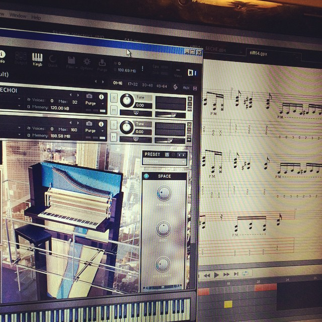 Been a quiet month for us show-wise, but we've been writing & eyeball-deep in pre-pro on a bunch of new tunes for next year. #writing #creation #digital #kontakt #gp6 #sonarx3 #newalbum