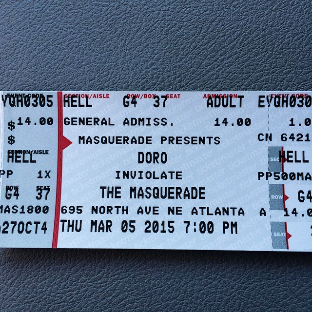 1st #Atlanta show of 2015 for us -- opening for the #legendary lady #DoroPesch on Thurs 3/5! Also with our friends #KickinValentina ! Tix only $14 inviolate.com/tickets #Doro #Metal #MetalQueen #Warlock #FemaleFrontedMetal #NuclearBlast #Masquerade