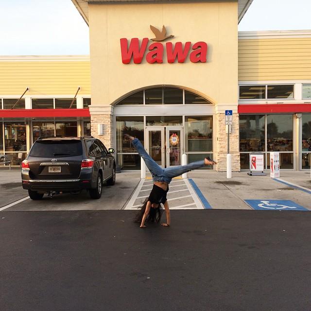 #Kadria going #woowoo at the #NewPortRichey @wawa (store #5115)! #gottahaveaWawa #wannahavawawa #wawarocks #build1inGeorgia #bestgasstationever #florida #bestcoffee #InviolateHeartsWawa #besthoagies