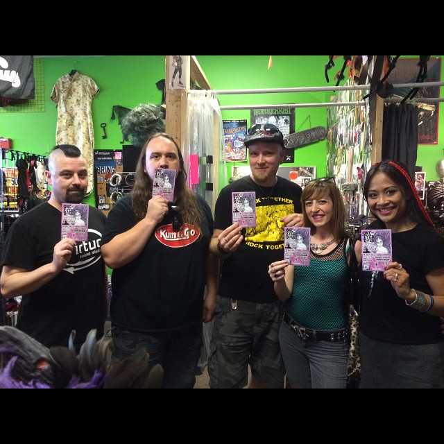 We stopped at #AnarchistCloset in Tampa to shop & promote for our show tonight with @oneeyeddoll #Psykotribe #SAHE #DidgesChristSuperDrum at the #BrassMug ! #supportyourlocals