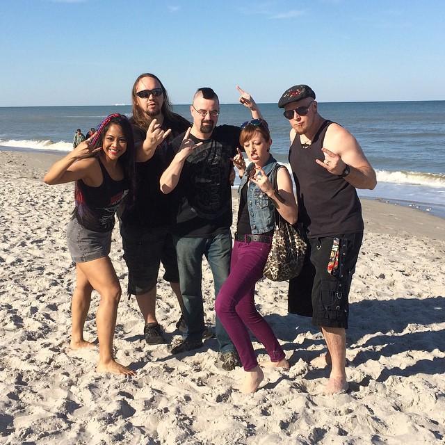Inviolating Satellite Beach before the show at Wynfields tonight! #beach #florida #metalheads #blackshirtsonthebeach #satellitebeach #inviolate