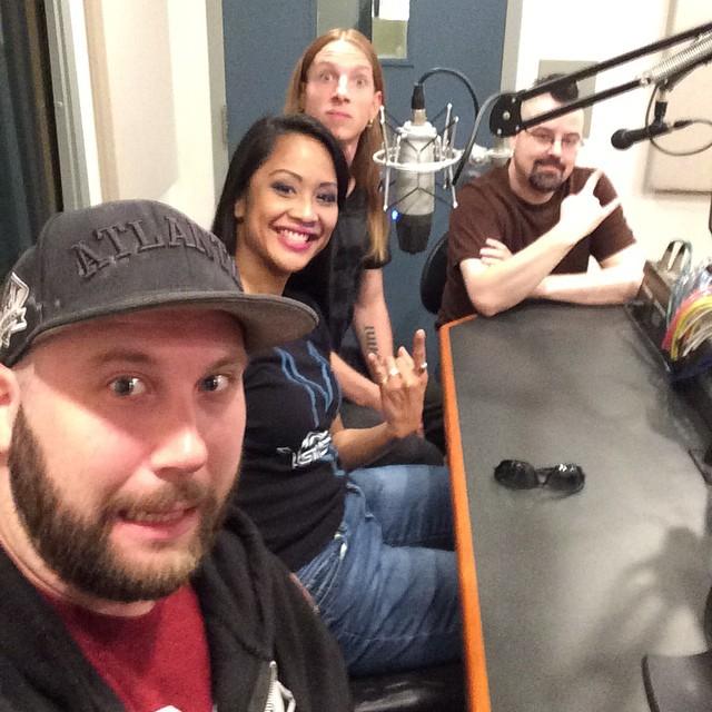 Interview time at WVUD! #radio #universityofdelaware #Delaware #gotfuses #eeep #tourlife #newark #TravisDry #RobertHannon #JeremyKidd #Kadria