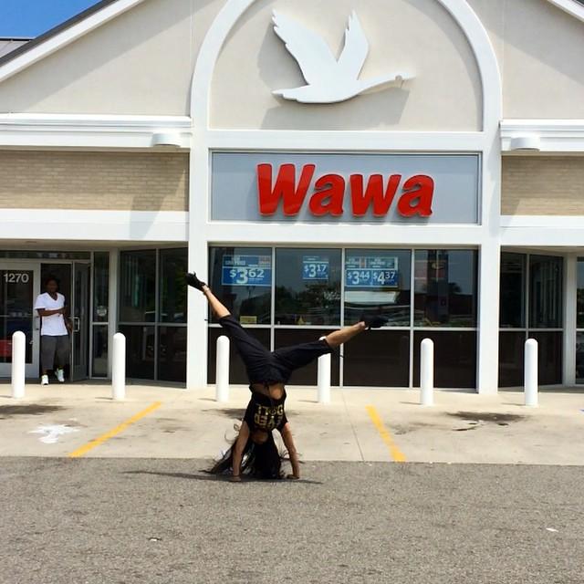 #Kadria going #woowoo at a #ColonialHeights #Virginia @wawa  8624 #gottahavawawa #bestgasstationever #wawaismetal #build1ingeorgia #inviolateloveswawa #tradition