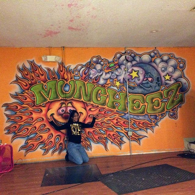 #Kadria visiting our favorite #WestVirginia venue. Look for an announcement soon, WV #Inviolators! @oneeyeddoll #Mucheez #Beckley #awesome #brianreznorisdabomb #psychedelicmural #trippy